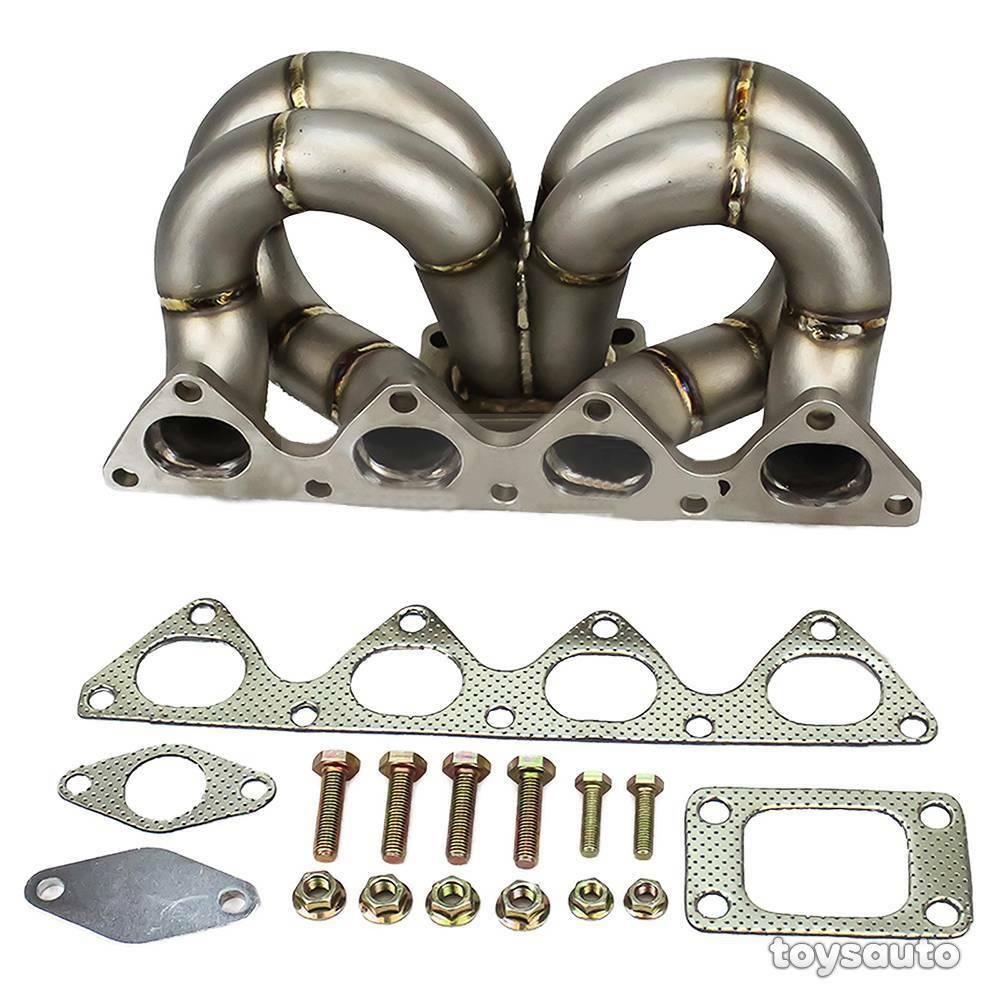 Rev9 HP Ram Horn Equal Length T3 Turbo Manifold For Civic