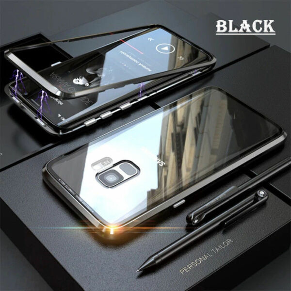 Royaume-UniFor Samsung Galaxy S20 S10 S8 Note 8/ 9 N10 Magnetic  Metal Case Cover