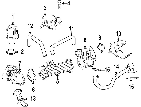 Mercedes Benz 6421421880 Genuine Oem Egr Pipe Gasket