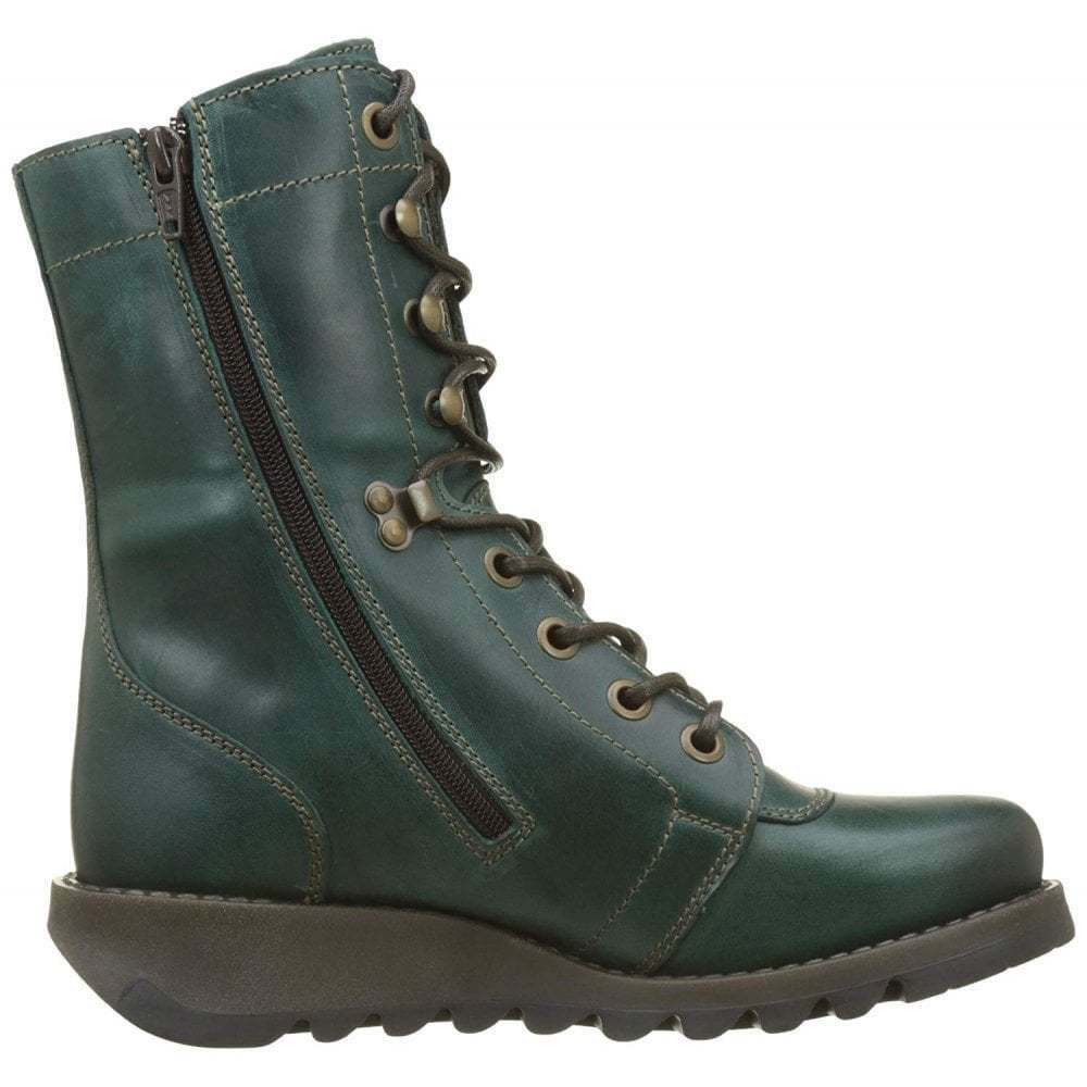 cf1e03a9c3ee Ladies Fly London Site360 Lace Up Leather Ankle Boot Biker Military All  Colours