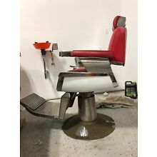 Vintage 1950's Belmont Barber Chair, Red