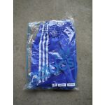 Vintage Blue ADIDAS 1980s Shiny Nylon Shorts Made In Tunisia 90/36 In Bag Glanz