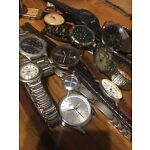 Mix JOB LOT OF 17 Vintage And Modern WATCHES - FOR SPARES, REPAIR OR PARTS.