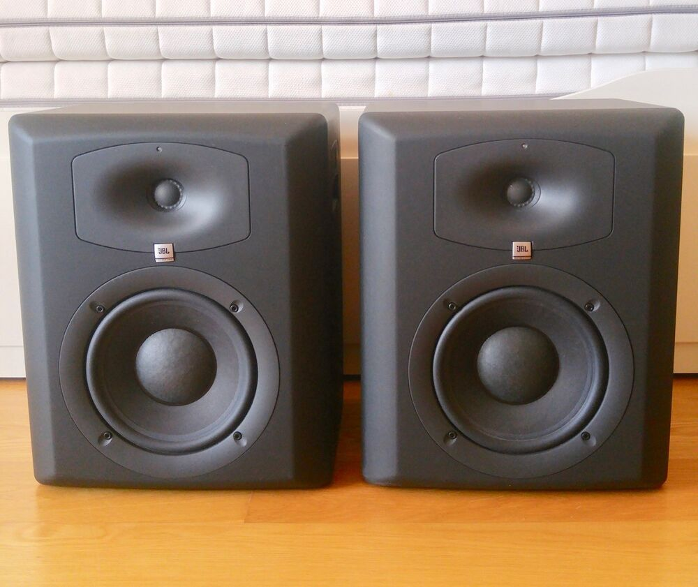 jbl lsr 6328p professional studio monitor powered speakers pair calibration kit ebay. Black Bedroom Furniture Sets. Home Design Ideas