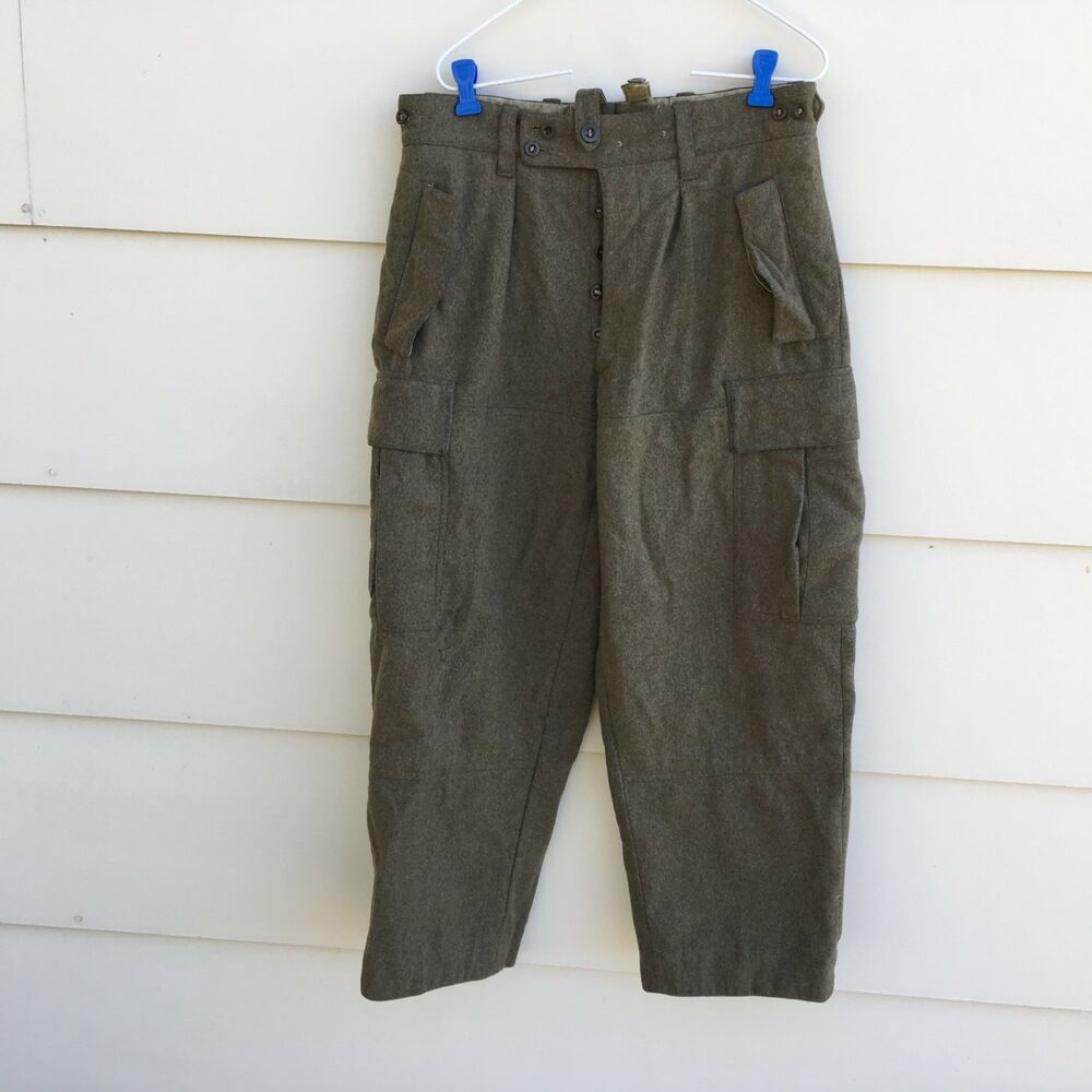 Details about VINTAGE WEST GERMAN MILITARY HEAVY WOOL FIELD CARGO PANTS  KNICKERS SIZE 31 x 27 532cfa945ac9