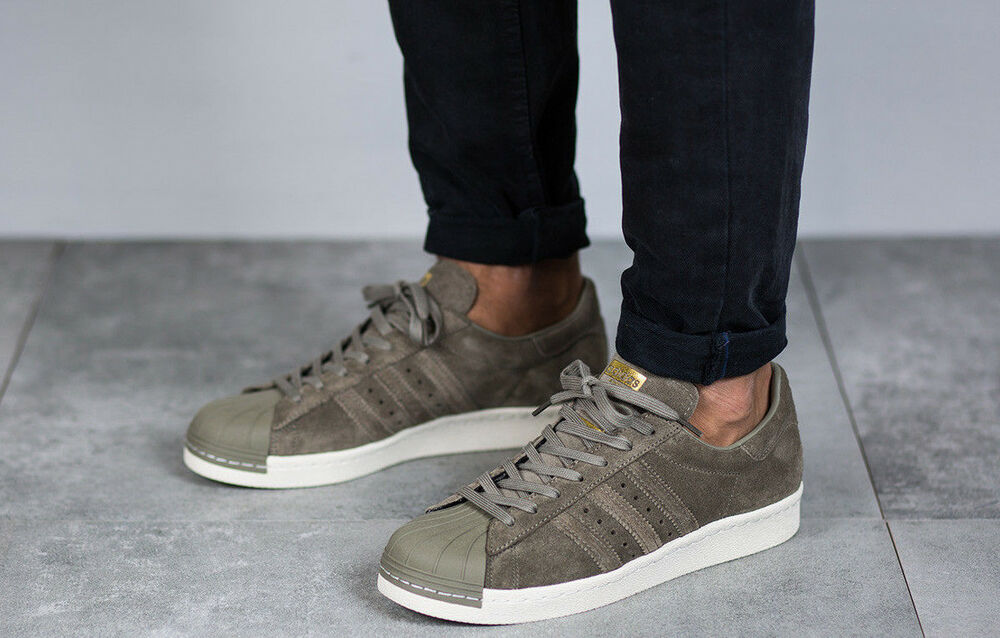 newest 18ed8 52727 Details about NEW BB2226 Men s Adidas SUPERSTAR 80s TRACE CARGO GENUINE  Originals Shoes UK 6