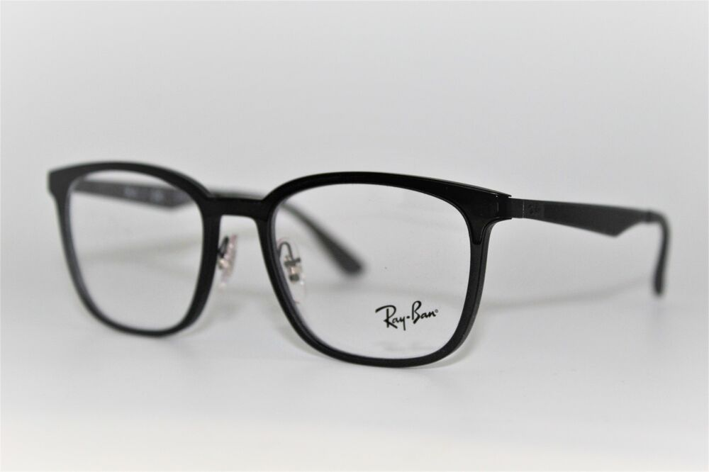 601f7db3e26 Details about NEW AUTHENTIC RAY-BAN RB 7117 5196 BLACK FRAMES EYEGLASSES  52MM RB7117 RX