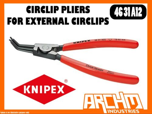 KNIPEX 4631A12 - CIRCLIP PLIERS FOR EXTERNAL CIRCLIPS - 130MM 45° ANGLED TIPS
