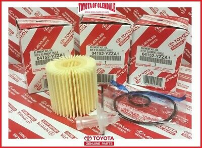 GENUINE TOYOTA LEXUS SCION OIL FILTER SET OF (3) OEM (FAST SHIPPING) 04152-YZZA1