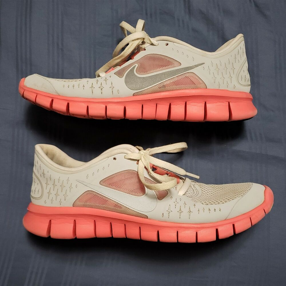 new product b49fb be105 Details about GIRL S 2012 NIKE FREE RUN 3  512098-001 Light Gray   Pink  Youth Size 6Y Shoes