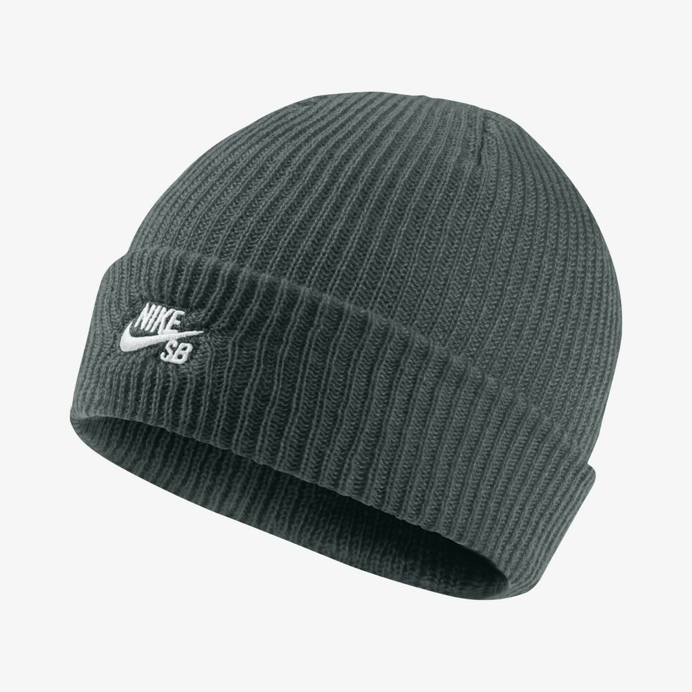promo code 15b64 18d47 Details about New Nike SB Fisherman Beanie Winter Hat - Midnight Green    White(628684-327)