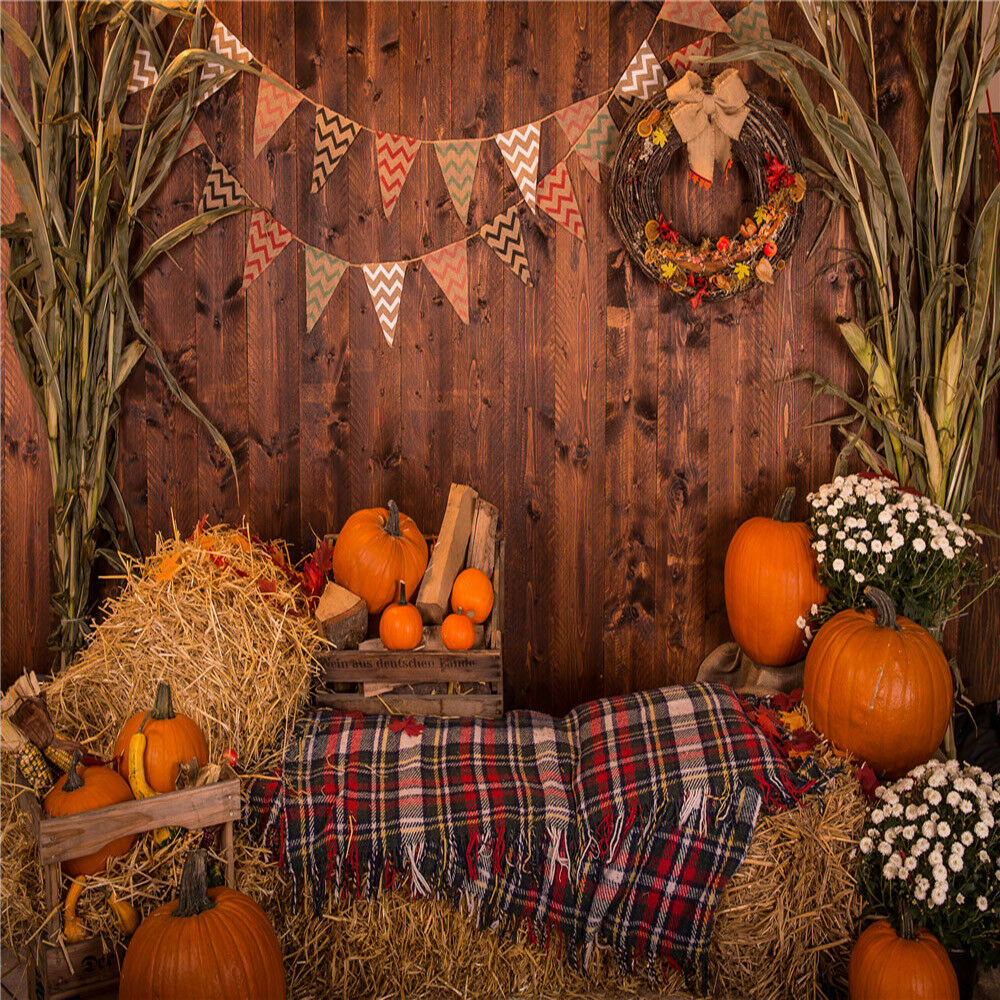 US 10x10FT Vinyl Thanksgiving Fall Harvest Pumpkin Studio