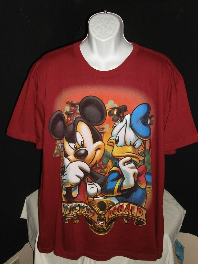Details about DISNEY STORE STUDIO COLLECTION MICKEY MOUSE   DONALD MAROON  S S T-SHIRT SZ. 2XL be0992cb6