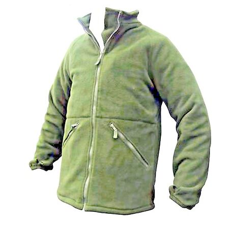 img-British Army Surplus Olive Green Fleece Thermal Cold Weather Jacket 020