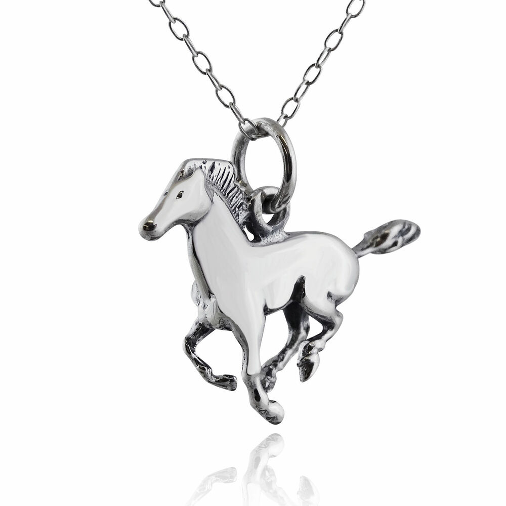 Sterling Silver Charm Horse New Jewelry & Watches Precious Metal Without Stones