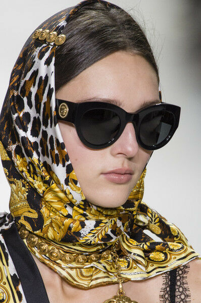 8a4f66f1a7b NEW Genuine VERSACE TRIBUTE COLLECTION Black Gold Sunglasses VE 4353 GB187  8053672892055