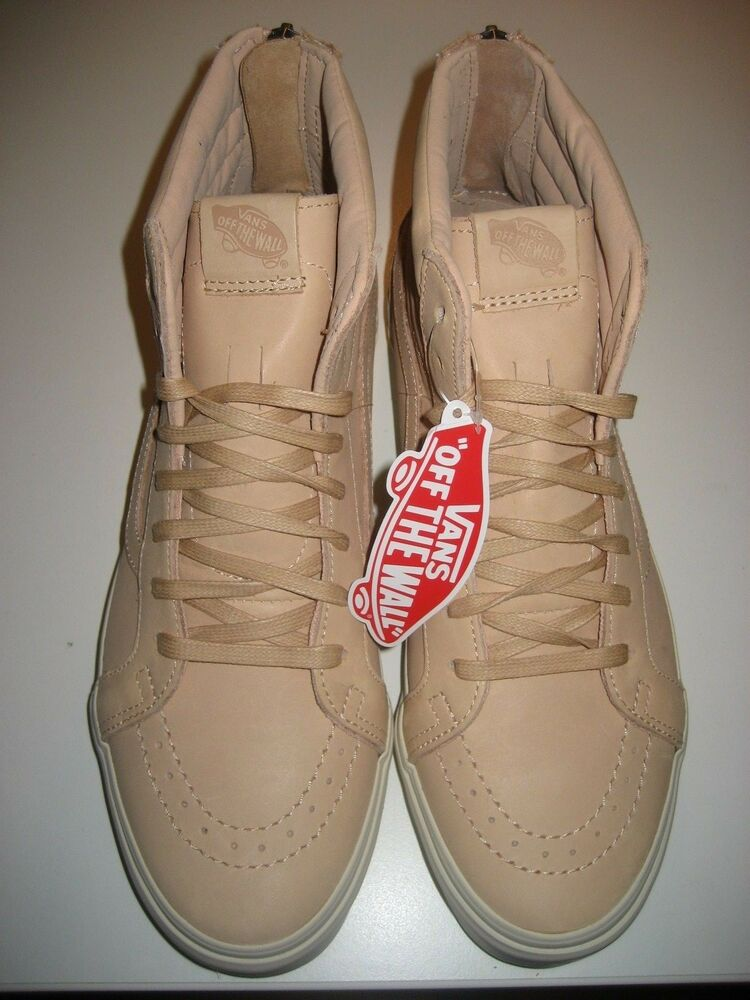 72c840dd70 Details about Vans Sk8-Hi Reissue Zipper Mens Veggie Tan Leather Skate shoes  Size 10.5 NWT
