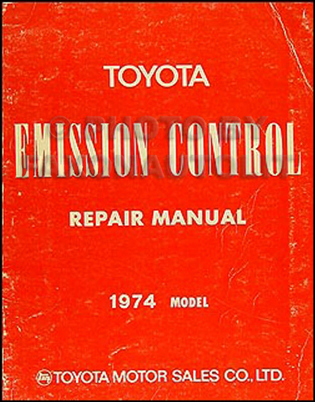 1974 Toyota Emission Control Shop Manual Celica Land Cruiser Pickup Rhebaycouk: 1974 Celica Parts Schematic At Gmaili.net