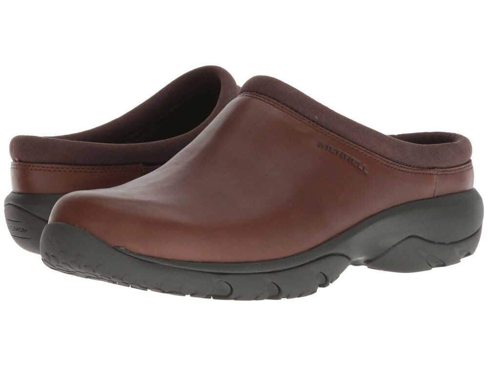 acb08ff99096e Details about NEW Mens Merrell Encore Rexton Slide AC+ Earth Brown Leather  Slip On Shoes