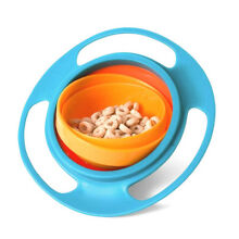 Children Baby Kids 360 Rotate Gyro Food Bowl Spill-Proof Toddler Training Bowl