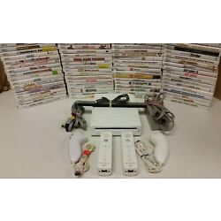 Kyпить Nintendo Wii Console - Games - 2 sets AUTHENTIC controllers SAME DAY SHIPPING на еВаy.соm