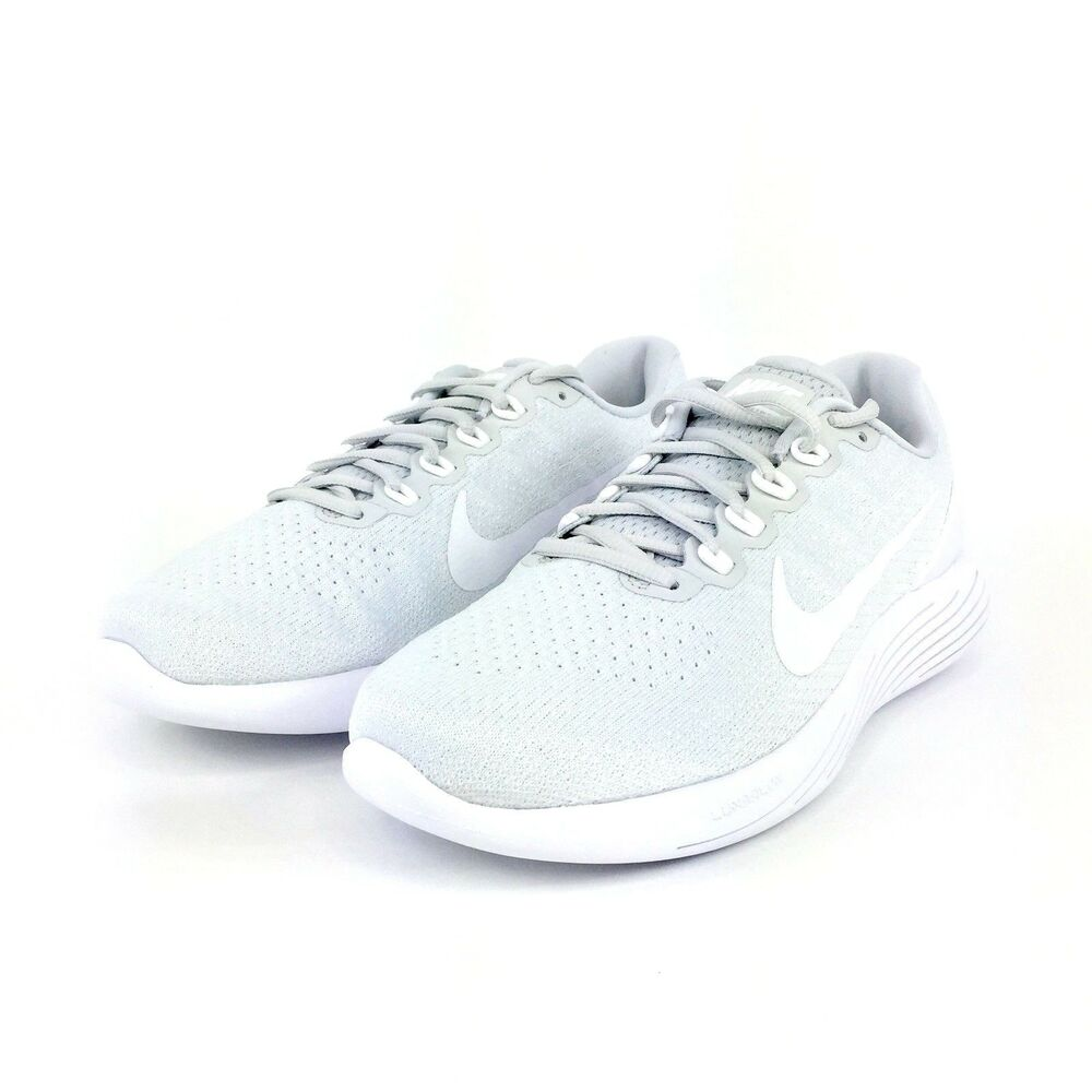 6cb5a5c21d86 Details about Nike Lunarglide 9 Mens Shoes Pure Platinum White White 904715  003 Size 12