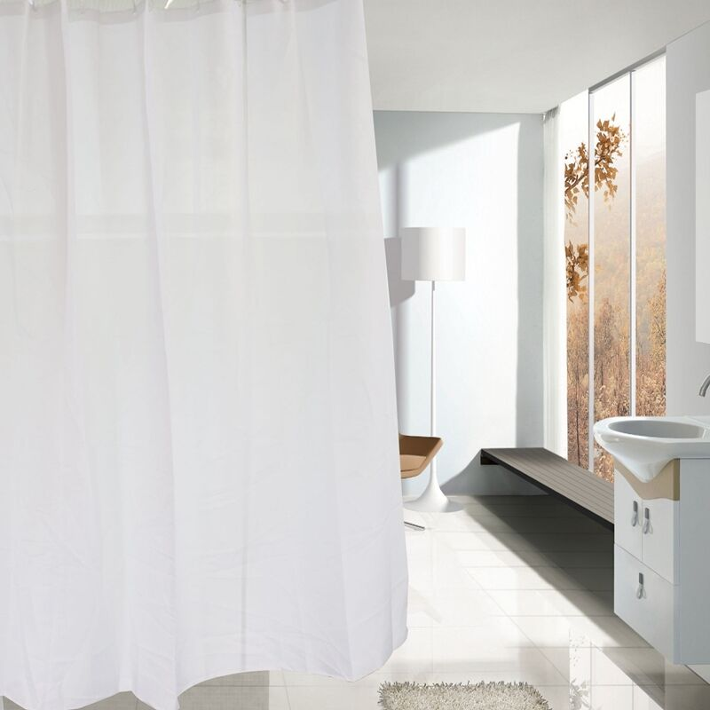 Details About Quality Xl Large Extra Long Wide White Polyester Shower Curtain 240 220 200 190