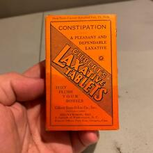 Antique GILBERT'S LAXATIVE TABLETS Medicine Box Brentwood, MD Maryland