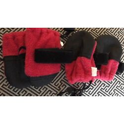 Dog Paw Protector Small Set Of Four Red And Black