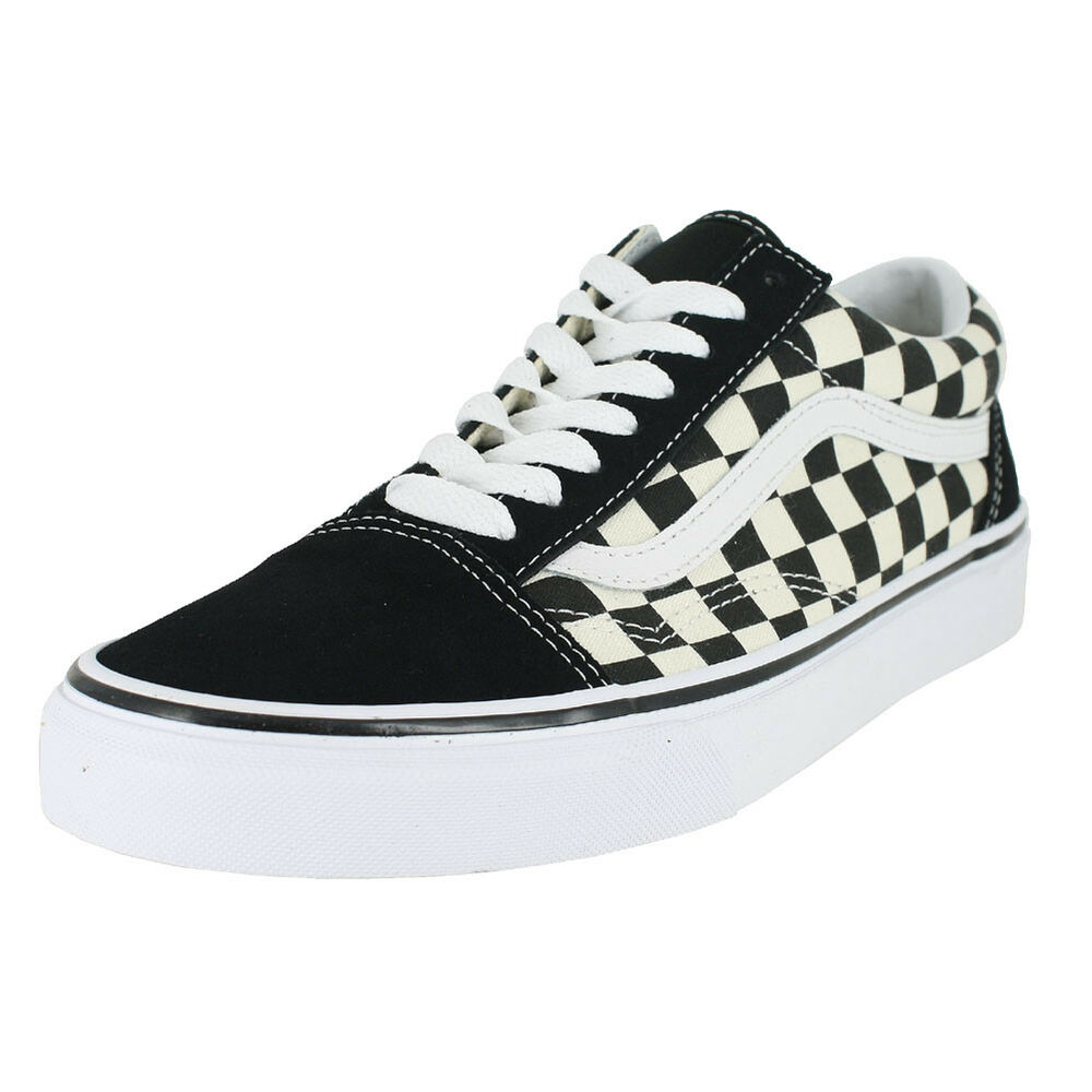 57b5b6a1700 Details about VANS OLD SKOOL PRIMARY CHECK BLACK WHITE MENS US SIZES