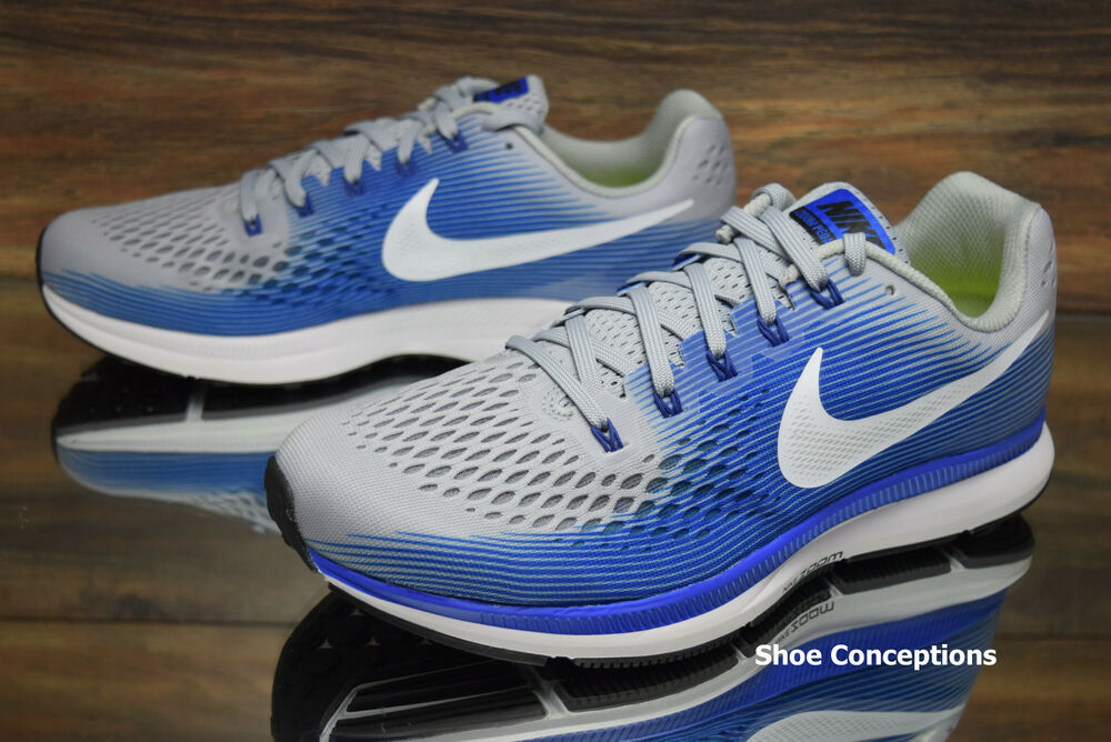 8504b8bcb Details about Nike Air Zoom Pegasus 34 EXTRA WIDE Shoes Grey Blue  880557-007 Men s Multi Size