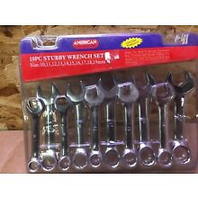 10pc Metric Wrench Set Stubby
