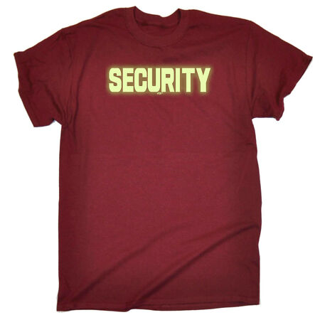 img-Funny Novelty T-Shirt Mens tee TShirt - Security Glow In The Dark