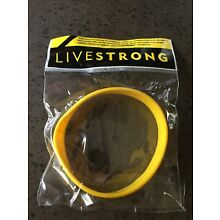 LiveStrong Nike NEW Original ADULT Yellow Bracelet Wristband Live Strong Cancer