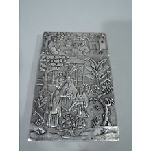 Exotic Case - Antique Asian China Trade Card Modish Exotics - Chinese Silver