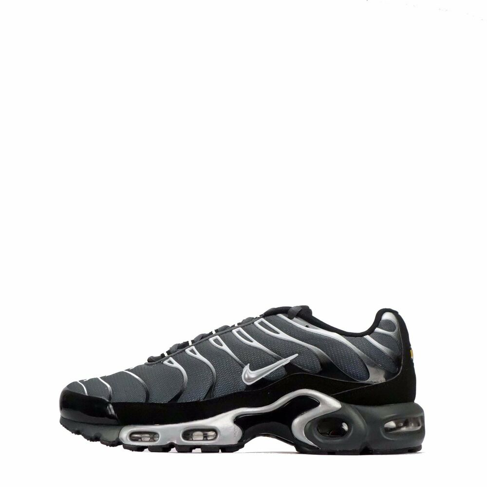 b807b3a02a Details about Nike Air Max Plus TN Tuned Mens Trainers Shoes in Dark Grey/ Silver