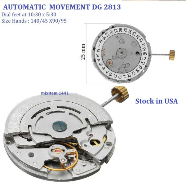 New ! Seagull DG 2813 Watch Movement 3 Hands Automatic