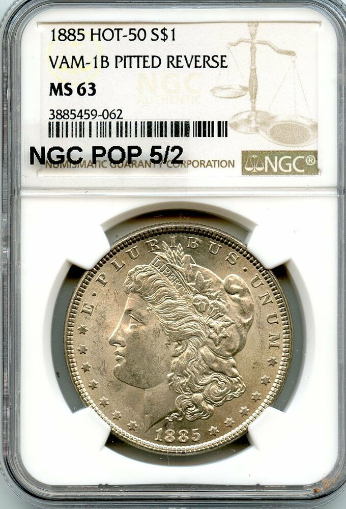 1885 O Morgan Silver Dollar From the New York Bank Hoard NGC MS63 SKU56765