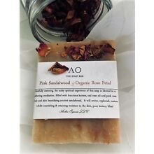 Organic Pink Sandalwood Rose Petal Handcrafted Soap - Pink Clay & Shea Butter