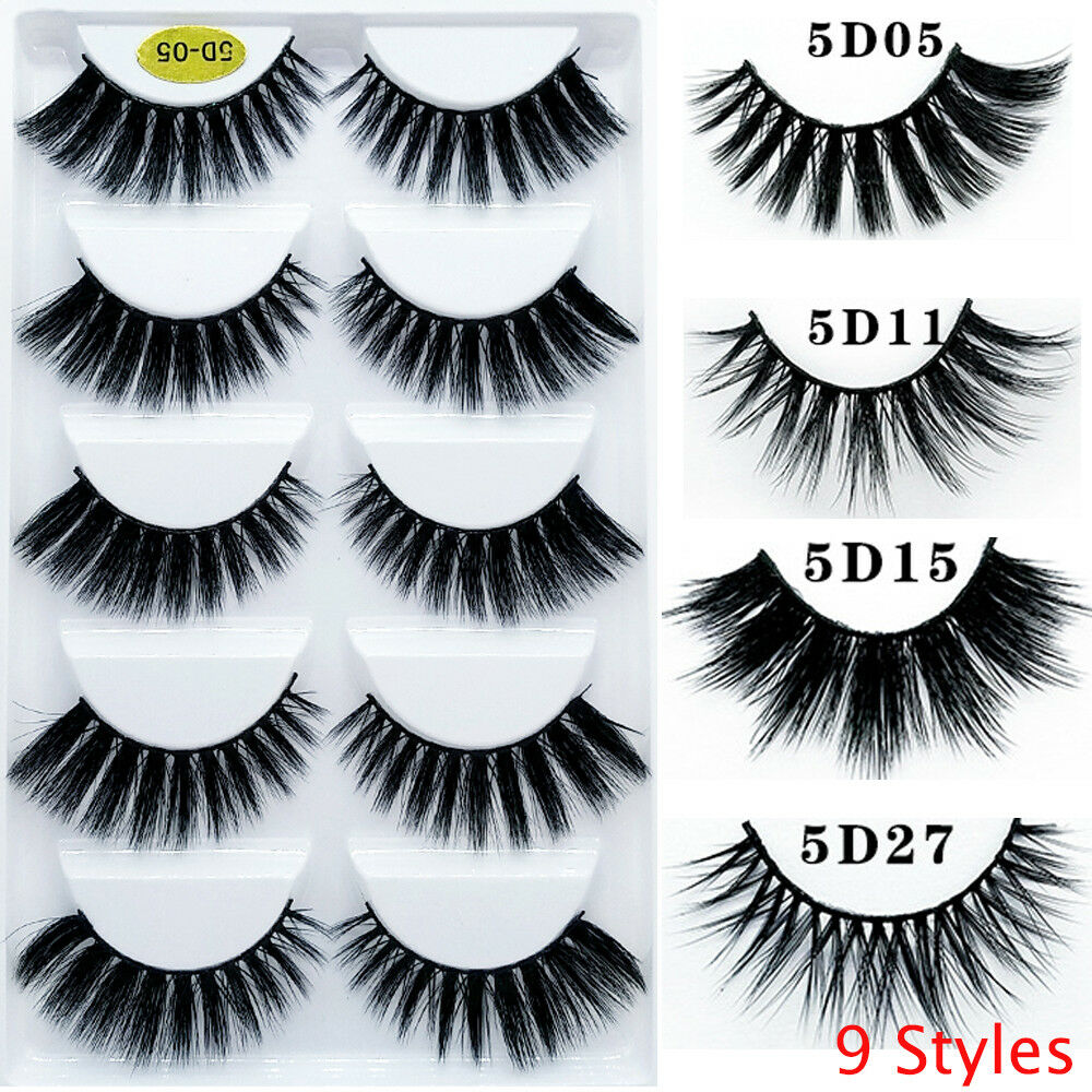 Fluffy Flare Thick Long Eyelashes Extension False Eyelashes 5d Mink