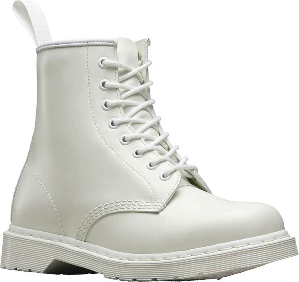 a66bd4f0cf5 Details about NEW Mens Dr Martens 1460 8 Eye White Smooth Mono Leather Lace  Up Boots AUTHENTIC