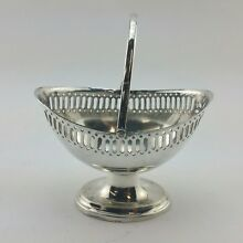 Richard Richardson Sheffield Small Silver Plated Basket with Handle