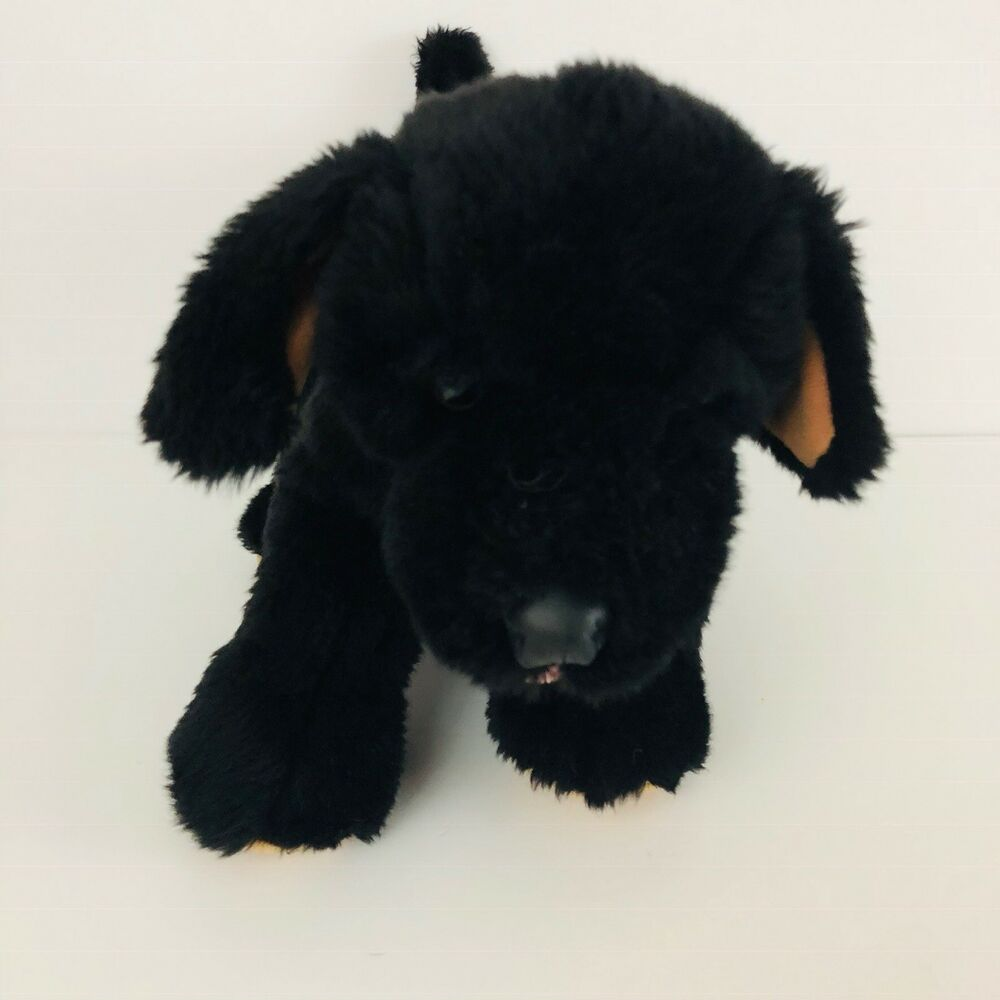 Build A Bear Black Puppy Dog Plush Stuffed Animal Lab 13 Inches B1