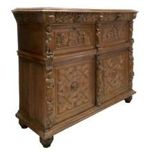 FLEMISH BAROQUE STYLE RELIGIOUS CARVED CABINET, 18th to early 19th century