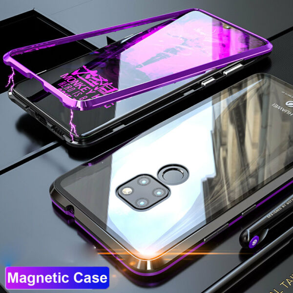 360° Magnetic Adsorption+Temper Glass Case Cover for Huawei Mate 20 Pro/Mate 20X