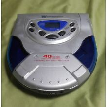 White Westinghouse WDM-13602 Portable Compact CD Disc Player, Tested & Working