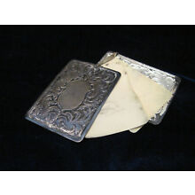 Antique German Silver Chatelaine Aide Memoire ~ Note Book