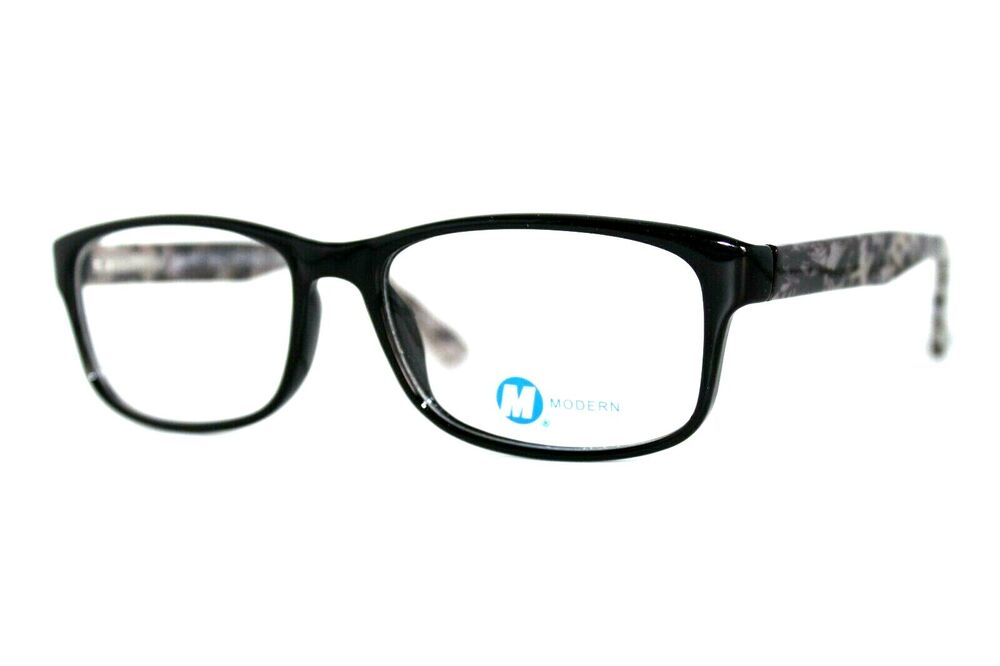 Modern Optical Tangle Black White Eyeglasses Authentic Frames 53 16