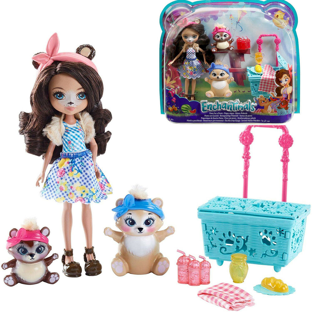 Toys For Girls Kids Picnic Doll Paws Playset For 3 4 5 6 7 -2866