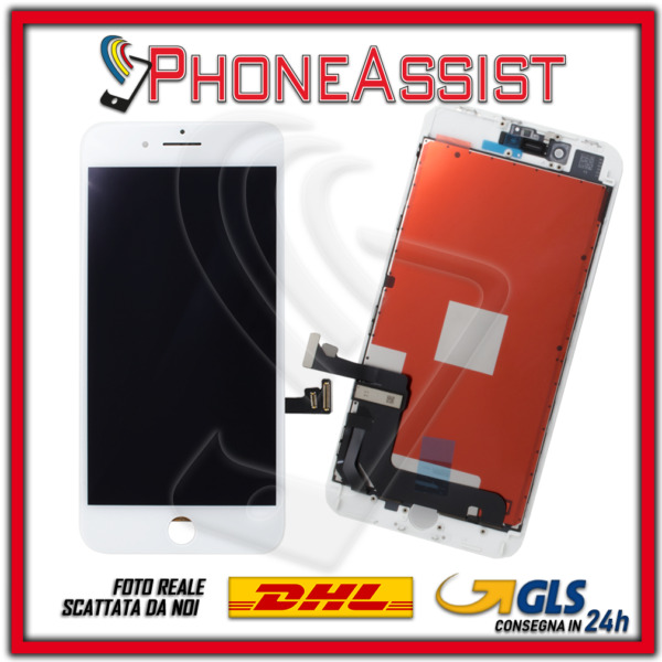 DISPLAY LCD VETRO TOUCH Apple iPhone 8 Plus SCHERMO ORIGINALE TIANMA Bianco